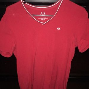 Armani Exchange red v neck size small